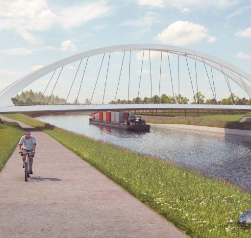 Image of the future road bridge Ooigem-Desselgem